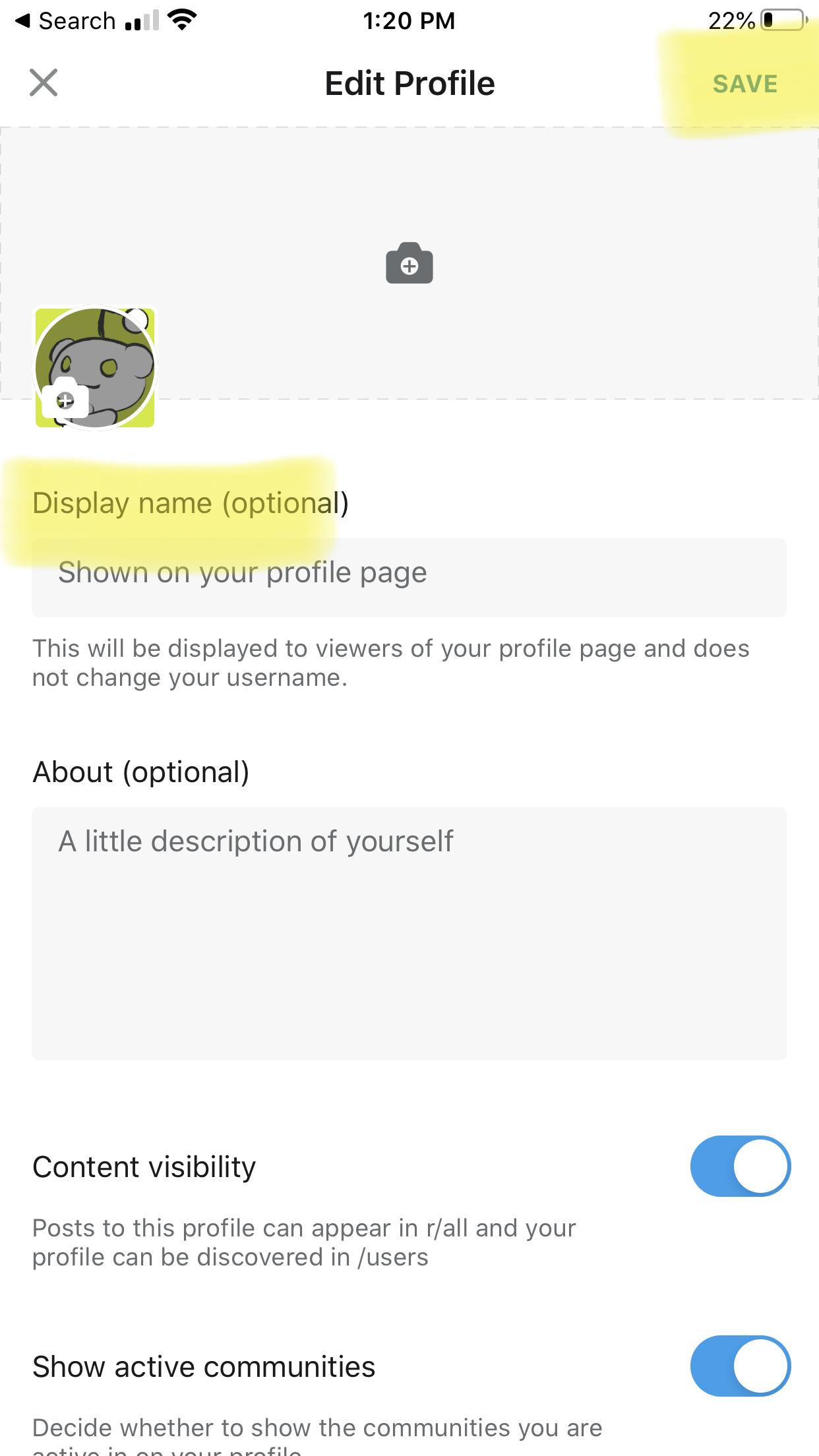 reddit display name change app